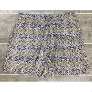 Matty M Casual Shorts Women Size L Elastic
